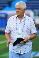 BARRANQUILLA - COLOMBIA ,24-08-2019: Julio Comesaña director técnico del Atlético Junior  ante el  Once Caldas  durante partido por la fecha 8 de la Liga Águila II 2019 jugado en el estadio Metropolitano Roberto Meléndez de la ciudad de Barranquilla . / Julio Comesana coach of  Atletico Junior agaisnt of Once Caldas during the  match for the date 8 of the Liga Aguila II 2019 played at Metropolitano Roberto Melendez Satdium in Barranquilla City . Photo: VizzorImage / Alfonso Cervantes / Contribuidor.