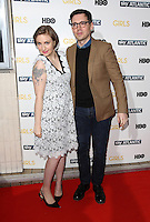 Lena Dunham, Erdem Moralioglu arriving for the Girls - UK premiere of the third series held at the Cineworld Haymarket - Arrivals, London. 15/01/2014 Picture by: Henry Harris / Featureflash