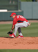 Edgar Gonzalez of the St. Louis Cardinals vs. the Atlanta Braves March 16th, 2007 at Champion Stadium in Orlando, FL during Spring Training action.  Photo copyright Mike Janes Photography 2007.