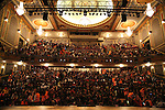 Students in the theater during the Gilder Lehman Institute of American History Education Matinee of 'Hamilton' at the Richard Rodgers  Theatre on November 2, 2016 in New York City.
