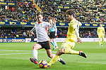 Manuel Trigueros Muñoz of Villarreal CF battles for the ball with Jose Luis Gaya Pena of Valencia CF during their La Liga match between Villarreal CF and Valencia CF at the Estadio de la Cerámica on 21 January 2017 in Villarreal, Spain. Photo by Maria Jose Segovia Carmona / Power Sport Images