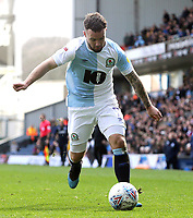 Blackburn Rovers' Adam Armstrong<br /> <br /> Photographer Rich Linley/CameraSport<br /> <br /> The EFL Sky Bet Championship - Blackburn Rovers v Preston North End - Saturday 9th March 2019 - Ewood Park - Blackburn<br /> <br /> World Copyright © 2019 CameraSport. All rights reserved. 43 Linden Ave. Countesthorpe. Leicester. England. LE8 5PG - Tel: +44 (0) 116 277 4147 - admin@camerasport.com - www.camerasport.com