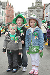 Niall, Ryan and Niamh at the 2010 St Patrick's Day Parade...Photo NEWSFILE/Jenny Matthews.(Photo credit should read Jenny Matthews/NEWSFILE)....This Picture has been sent you under the condtions enclosed by:.Newsfile Ltd..The Studio,.Millmount Abbey,.Drogheda,.Co Meath..Ireland..Tel: +353(0)41-9871240.Fax: +353(0)41-9871260.GSM: +353(0)86-2500958.email: pictures@newsfile.ie.www.newsfile.ie.FTP: 193.120.102.198.