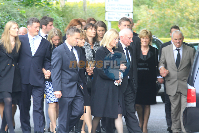The funeral of Emily Maguire arriving at Termonfeckin Church. Emily was killed in a fatal car accident outside Drogheda and the Termonfeckin Road..Picture Fran Caffrey www.newsfile.ie