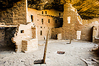 Spruce Tree House is the third largest cliff dwelling in Mesa Verda National Park and was built by the ancient ancestors of the Pueblo people between A.D. 1211 and 1278.