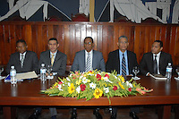 Puesta en circulación del libro de Ricardo Nieves.  José Parra, Ricardo Nieves, Antonio Medina, Freddy Ángel Castro y Bautista López. Fuente externa.