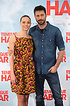 Spanish actors Hugo Silva (R), Michelle Jenner pose during `Tenemos que hablar´ film presentation in Madrid, Spain. February 24, 2016. (ALTERPHOTOS/Victor Blanco)