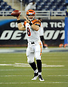 DAN LEFEVOUR, of the Cincinnati Bengals in action during the Bengals game against the Detroit Lion on August 12, 2011 at Ford Field in Detroit, Michigan. The Lions beat the Bengals 34-3.
