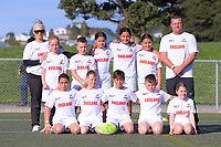 The England (King Country) team poses for a team photo on day one of the 2019 Air NZ Rippa Rugby Championship at Wakefield Park in Wellington, New Zealand on Monday, 26 August 2019. Photo: Dave Lintott / lintottphoto.co.nz