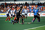 The Hague, Netherlands, June 01: Hugo Inglis #29 and Simon Child #6 of New Zealand look on during the field hockey group match (Men - Group B) between the Black Sticks of New Zealand and Korea on June 1, 2014 during the World Cup 2014 at GreenFields Stadium in The Hague, Netherlands. Final score 2:1 (1:0) (Photo by Dirk Markgraf / www.265-images.com) *** Local caption ***