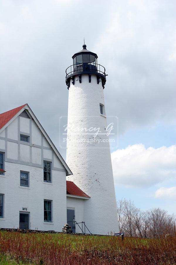 Lighthouse Lake Superior Michigan 1870 History Location Travel