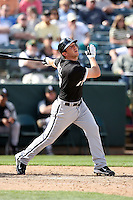 Brent Morel. Chicago White Sox spring training game vs. Oakland Athletics at Phoenix Municipal Stadium, Phoenix, AZ - 03/10/2010.Photo by:  Bill Mitchell/Four Seam Images.