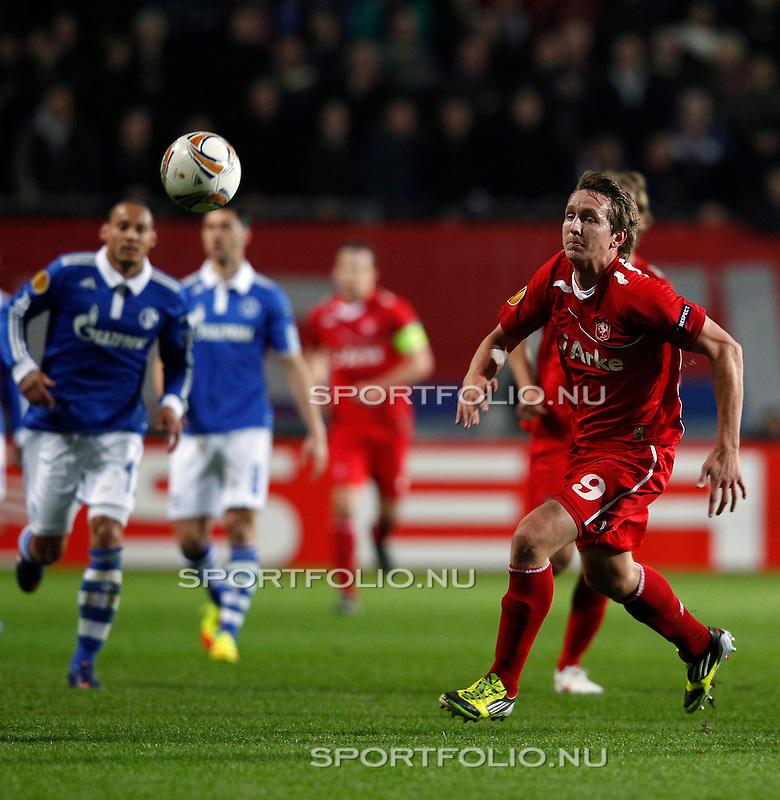 Nederland, Enschede, 8 maart 2012.Europa League.Seizoen 2011-2012.FC Twente-Schalke 04.Luuk de Jong van FC Twente