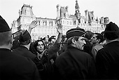 Paris, France.April 23, 2002..Protesters demonstrate against Jean-Marie Le Pen of the National Front near the Hotel de Ville (City Hall).