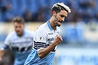 Luis Alberto Lazio celebrates after scoring a goal.<br /> Roma 12-01-2019 Stadio Olimpico<br /> Football Calcio Coppa Italia 2018/2019, Ottavi. <br /> Lazio - Novara<br /> Foto Antonietta Baldassarre / Insidefoto