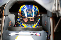 Feb 21, 2020; Chandler, Arizona, USA; NHRA funny car driver Ron Capps during qualifying for the Arizona Nationals at Wild Horse Pass Motorsports Park. Mandatory Credit: Mark J. Rebilas-USA TODAY Sports