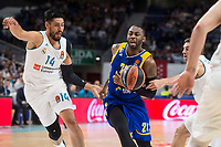 Real Madrid Gustavo Ayon and Khimki Moscow James Anderson during Turkish Airlines Euroleague match between Real Madrid and Khimki Moscow at Wizink Center in Madrid, Spain. November 02, 2017. (ALTERPHOTOS/Borja B.Hojas) /NortePhoto.com