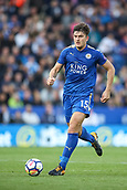 9th September 2017, King Power Stadium, Leicester, England; EPL Premier League Football, Leicester City versus Chelsea; Harry Maguire of Leicester City runs forward with the ball