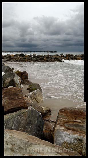 rocks, the ocean, the beach, Venice<br />