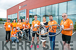 Launching the Cycle Against Suicide 'Tralee Spin Off' On Saturday, August 20th Pictured Front l-r Colin Aherne, Danielle O'Sullivan, Kerry Rose,  Jim Breen, Cycle Against Suicide, Kevin Finn, Cycle Against Suicide, Back l-r Deputy Michael Healy Rae,  Clodagh Moynhan, Cormac Sertutxa, Grace O'Donnell, John Drummey, Sean Ryan, Aspengrove