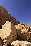 Israel, Negev, boulders in Nekarot Horseshoe