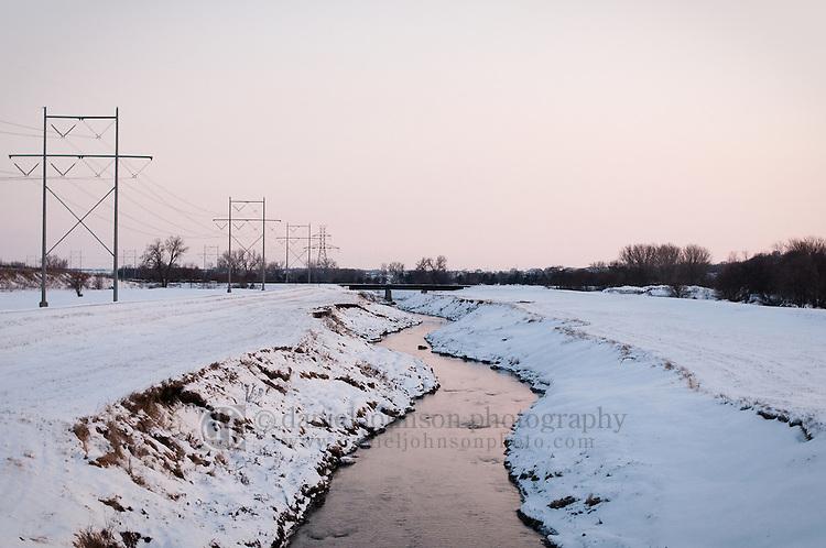 08 February 2010 -- Daily picture for February 8, 2010. Papillion Creek at the Q Street bridge in Omaha, Nebraska. PHOTO/Daniel Johnson (Copyright 2010 Daniel Johnson)