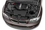 High angle engine detail of a 2004 - 2011 BMW 1-Series 118i 5 Door Hatchback 2WD.