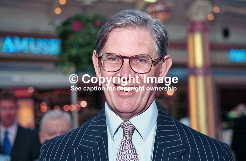 Bill Cash, Conservative Party MP, Euro-Sceptic, UK, Britain, Ref:199710222.Taken at Conservative Conference in Winter Garden, Blackpool.<br />