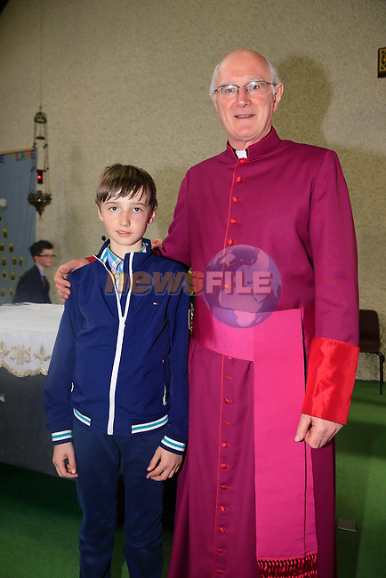 EOin Brooks and Monsenior<br /> at confirmation in Whitecross, Julianstown.<br /> Picture: www.newsfile.ie