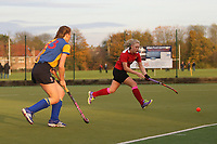Upminster score their first goal and celebrate during Upminster HC Ladies vs Holcombe HC Ladies 1A, East Region League Field Hockey at the Coopers Company and Coborn School on 11th November 2017