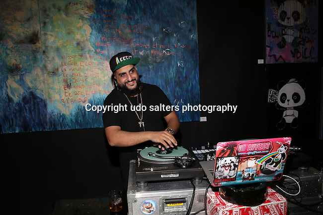 """Presented by Love Fashion Art New York, Haute Living Magazine and Superega for Domingo Zapata, Domingo Zapata debuted his WANTED exhibition at Lulu Laboratorium. Adrien Brody debuted a new painting series """"Hotdogs, Hamburgers and Handguns."""" With music by DJ Affect."""