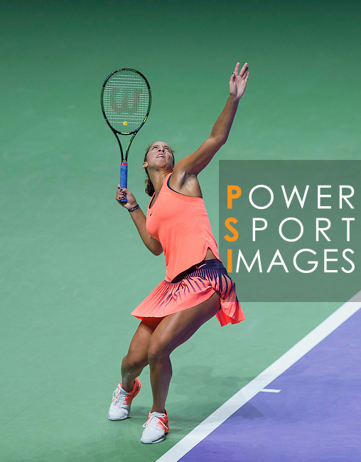 Madison Keys (USA) vs Dominika Cibulkova (SVK) during the BNP Paribas WTA Finals Singapore presented by SC Global at the Indoor Stadium on 25 October 2016 in Singapore. Photo by Victor Fraile / Power Sport Images