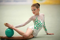 Nataliya Leschik of Belarus (junior)performs with ball at Schmiden Tournament on March 10, 2007 at Schmiden, Germany.