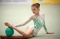 Nataliya Leschik of Belarus (junior)performs with ball at Schmiden Tournament on March 10, 2007 at Schmiden, Germany.