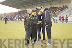 Donie O'Leary, Harry O'Neill, Vince Casey abd Denis Coleman  Dr. Crokes Management Team v Nemo Rangers in their AIB Senior Club Football Championship Munster Final at Mallow GAA Grounds on Sunday 30th January 2011.