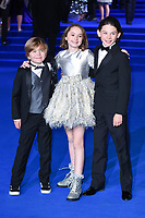 "Joel Dawson, Pixie Davies and Nathanael Saleh<br /> arriving for the ""Mary Poppins Returns"" premiere at the Royal Albert Hall, London<br /> <br /> ©Ash Knotek  D3467  12/12/2018"