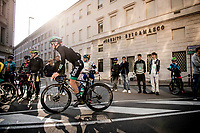 Gregor Mühlberger (AUT/Bora-Hansgrohe) at the start of the race<br /> <br /> 113th Il Lombardia 2019 (1.UWT)<br /> 1 day race from Bergamo to Como (ITA/243km)<br /> <br /> ©kramon