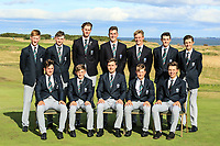 Team Scotland during previews for the Boys' Home Internationals played at Royal Dornoch, Dornoch, Sutherland, Scotland. 06/08/2018<br /> Picture: Golffile | Phil Inglis<br /> <br /> All photo usage must carry mandatory copyright credit (&copy; Golffile | Phil Inglis)