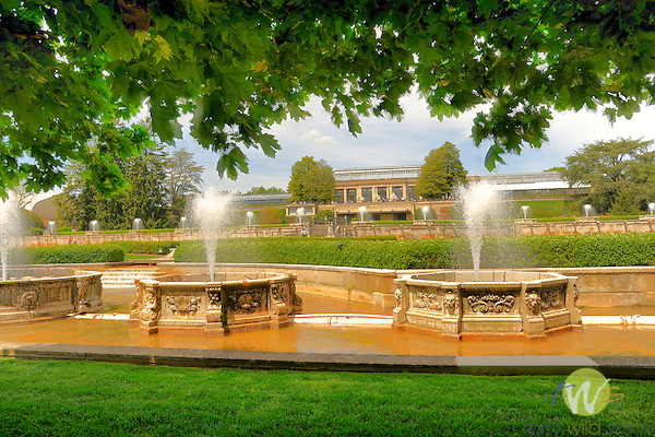 Longwood Gardens, Kennett Square, PA. Former Pierre S. du Pont (1870-1954) estate.Main Fountain Garden.