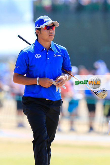 Hideki Matsuyana (JPN) walks onto the 10th tee during Saturday's Round 3 of the 2015 U.S. Open 115th National Championship held at Chambers Bay, Seattle, Washington, USA. 6/20/2015.<br /> Picture: Golffile | Eoin Clarke<br /> <br /> <br /> <br /> <br /> All photo usage must carry mandatory copyright credit (&copy; Golffile | Eoin Clarke)