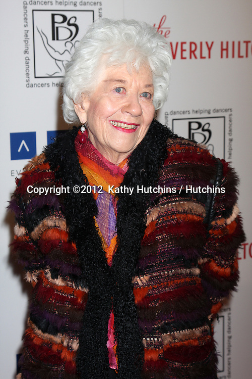 LOS ANGELES - MAR 18:  Charlotte Rae arrives at the Professional Dancer's Society Gypsy Awards at the Beverly Hilton Hotel on March 18, 2012 in Los Angeles, CA