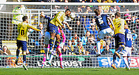 Che Dunkley of Oxford United scores his sides second goal during the Sky Bet League 2 match between Oxford United and Luton Town at the Kassam Stadium, Oxford, England on 16 April 2016. Photo by Liam Smith.