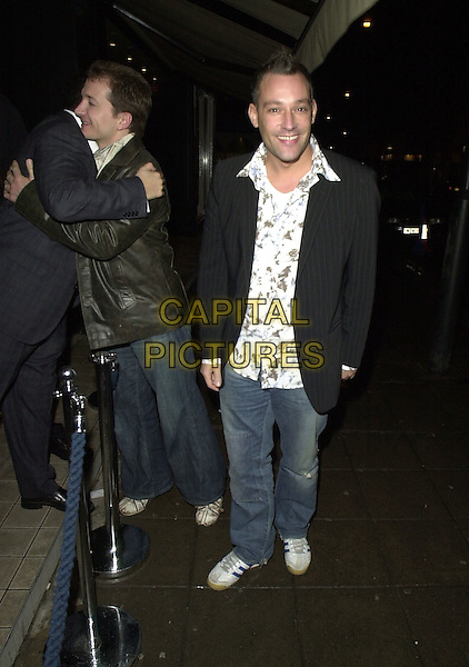 TOBY ANSTIS.leaving the Leopard Lounge nightclub.15 January 2004.www.capitalpictures.com.sales@capitalpictures.com.©Capital Pictures.