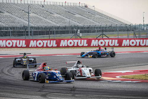 F4 US Championship<br /> Rounds 16-17-18<br /> Circuit of The Americas, Austin, TX USA<br /> Saturday 16 September 2017<br /> 27, Austin Kaszuba 19, Timo Reger<br /> World Copyright: Keith Daniel Rizzo<br /> LAT Images