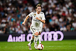 Luka Modric of Real Madrid in action during their La Liga  2018-19 match between Real Madrid CF and Atletico de Madrid at Santiago Bernabeu on September 29 2018 in Madrid, Spain. Photo by Diego Souto / Power Sport Images