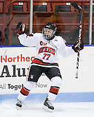 Kendall Coyne (Northeastern - 77) - The Northeastern University Huskies defeated the visiting Clarkson University Golden Knights 5-2 on Thursday, January 5, 2012, at Matthews Arena in Boston, Massachusetts.