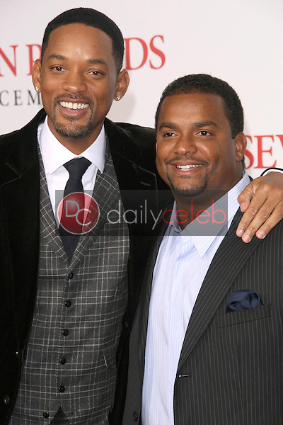 Will Smith and Alfonso Ribeiro <br /> at the Los Angeles Premiere of 'Seven Pounds'. Mann Village Theatre, Westwood, CA. 12-16-08<br /> Dave Edwards/DailyCeleb.com 818-249-4998