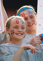 22 MAY 2010:  Young USA fans during the International Friendly soccer match between Germany WNT vs USA WNT at Cleveland Browns Stadium in Cleveland, Ohio on May 22, 2010.