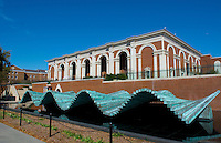 Dallas Texas Meadows Museum at Southern Methodist University SMU with moving brass artwork as wave
