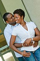 Engagement photos of Tashana Salmon and Fonda Trife at Piedmont Park in Atlanta, GA